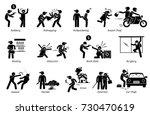 crime and criminal. pictogram...