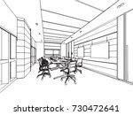 interior outline sketch drawing ... | Shutterstock .eps vector #730472641