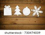 christmas paper ornaments ... | Shutterstock . vector #730474039