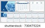 calendar 2018 week start on...   Shutterstock .eps vector #730475224