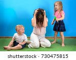 mother is depressed by... | Shutterstock . vector #730475815