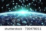 global network and datas... | Shutterstock . vector #730478011