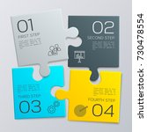 four pieces puzzle. modern... | Shutterstock .eps vector #730478554