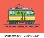electric locomotive   Shutterstock .eps vector #730480534