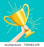 winner business goal... | Shutterstock .eps vector #730481149