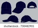 navy blue baseball cap for... | Shutterstock .eps vector #730482901