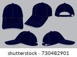navy blue baseball cap for... | Shutterstock .eps vector #730482901