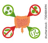 good and bad bacteria concept.... | Shutterstock .eps vector #730484494