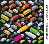 3d isometric cars parking.... | Shutterstock .eps vector #730485655