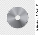 circular saw blade vector icon. | Shutterstock .eps vector #730486219