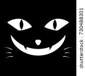the black cat  face of black... | Shutterstock .eps vector #730488301