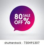 80  offer label sticker  sale... | Shutterstock .eps vector #730491307