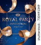 elegant blue vip invitation... | Shutterstock .eps vector #730491349