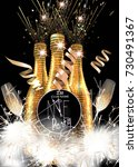 new year party invitation card... | Shutterstock .eps vector #730491367