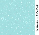 falling snow background. vector ... | Shutterstock .eps vector #730493641