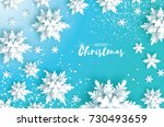 blue merry christmas greetings... | Shutterstock .eps vector #730493659