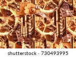 abstract industrial seamless... | Shutterstock . vector #730493995