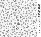 dog paw print seamless pattern... | Shutterstock .eps vector #730495789