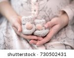 the future mother   a pregnant... | Shutterstock . vector #730502431