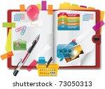 vector personal organizer... | Shutterstock .eps vector #73050313