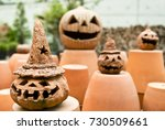 pumpkin head candle lights for... | Shutterstock . vector #730509661