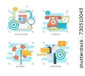 customer service  customer... | Shutterstock .eps vector #730510045
