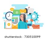customer service  customer... | Shutterstock .eps vector #730510099