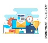 business workspace  office... | Shutterstock .eps vector #730510129