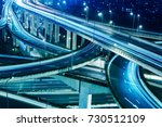beautiful city interchange... | Shutterstock . vector #730512109