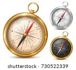vintage or retro style compass... | Shutterstock .eps vector #730522339