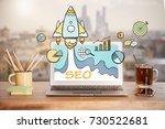 close up of creative designer... | Shutterstock . vector #730522681