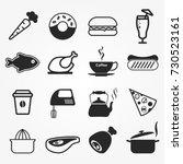 food icons vector. | Shutterstock .eps vector #730523161