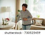 mature woman suffering from... | Shutterstock . vector #730525459