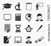 education icons vector | Shutterstock .eps vector #730528027