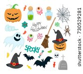 set of vector illustrations for ... | Shutterstock .eps vector #730529281
