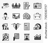 business icons vector. | Shutterstock .eps vector #730530757