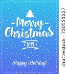 christmas greeting card with... | Shutterstock . vector #730531327