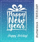 christmas greeting card with... | Shutterstock . vector #730531369