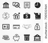 banking icons vector | Shutterstock .eps vector #730532464