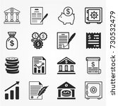 banking icons  banking icons... | Shutterstock .eps vector #730532479