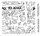 back to school doodle  seamless ... | Shutterstock .eps vector #730533274