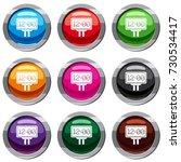 scoreboard set icon isolated on ...   Shutterstock .eps vector #730534417
