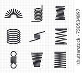 steel wire flexible spiral... | Shutterstock .eps vector #730534897