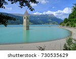 Underwater Church Tower Of An...