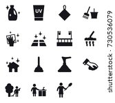 16 vector icon set   cleanser ... | Shutterstock .eps vector #730536079