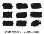 set of black paint  ink brush... | Shutterstock .eps vector #730537801