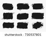 set of black paint  ink brush... | Shutterstock .eps vector #730537801