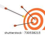 target with arrows. vector... | Shutterstock .eps vector #730538215