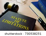 Small photo of Statute of limitations (SOL) on a court desk.