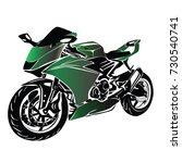 motorbike vector | Shutterstock .eps vector #730540741